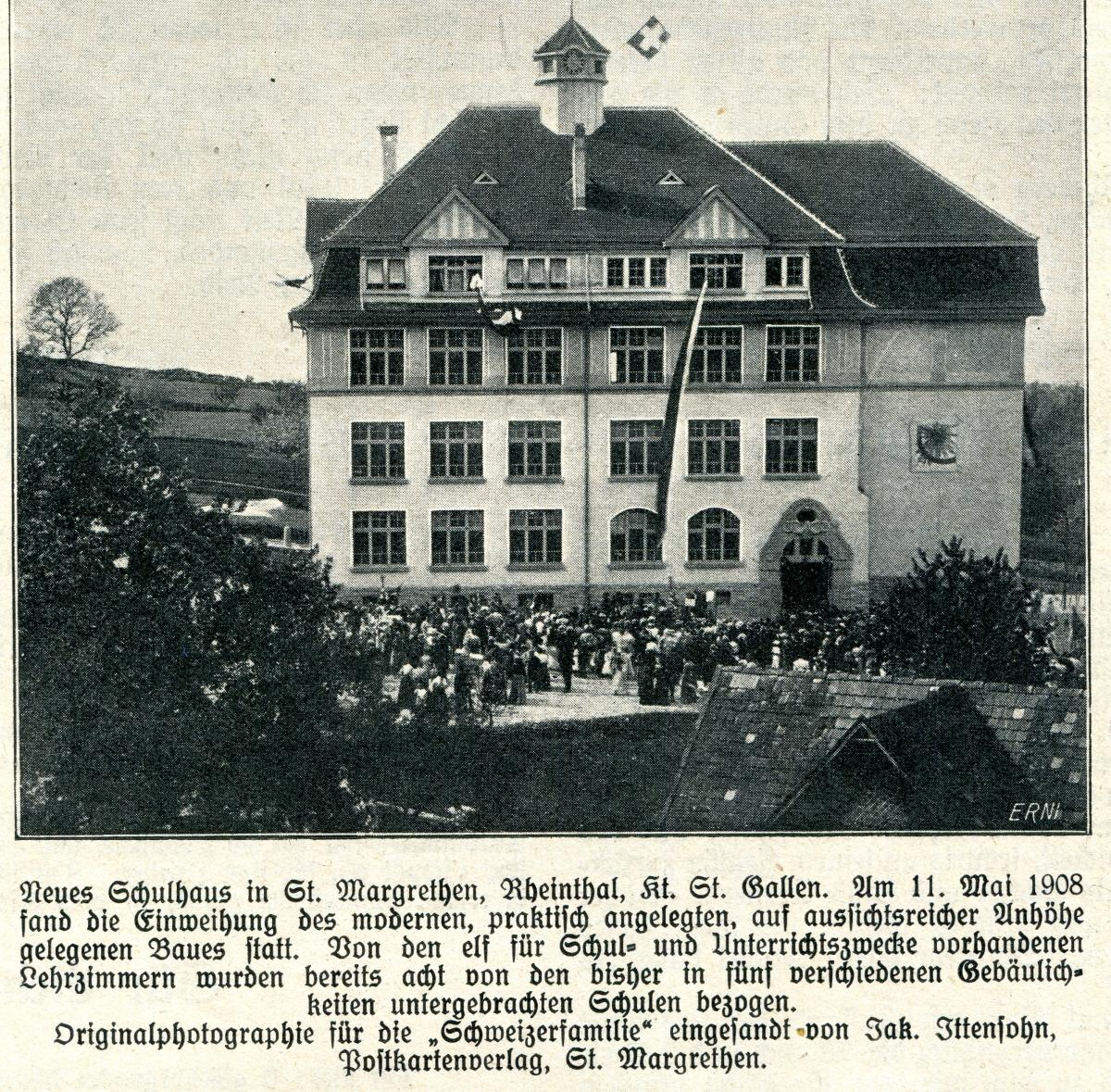 Schulhaus Rosenberg 1908