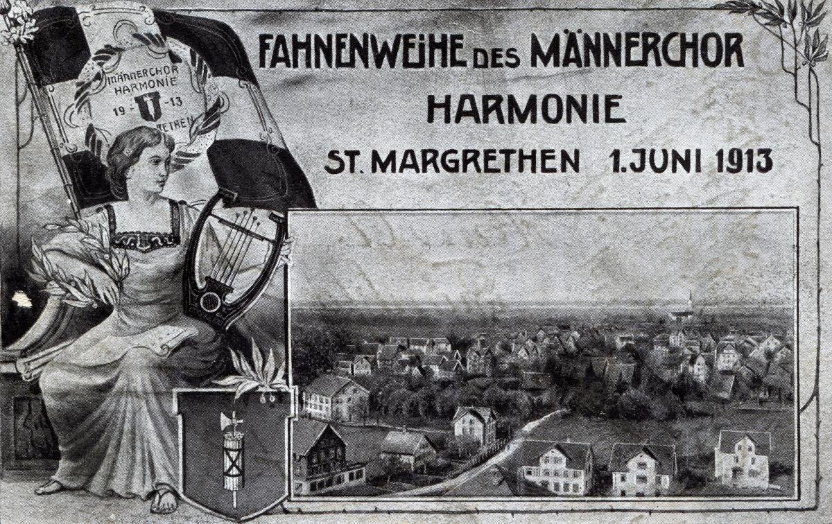 Fahnenweihe Männerchor